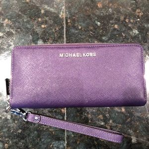 MICHAEL Michael Kors Bags - Micheal Kors Saffiano Leather Continental Wallet